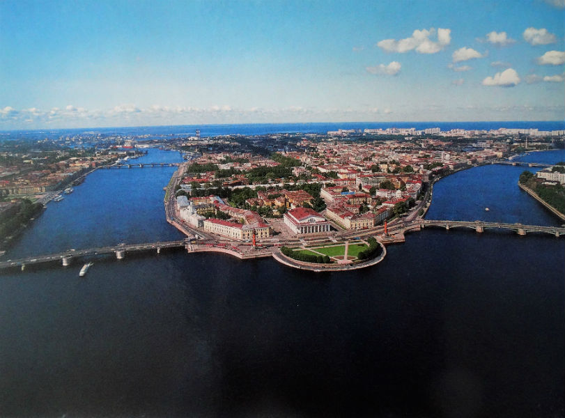 Vista de la isla Vasilievsky